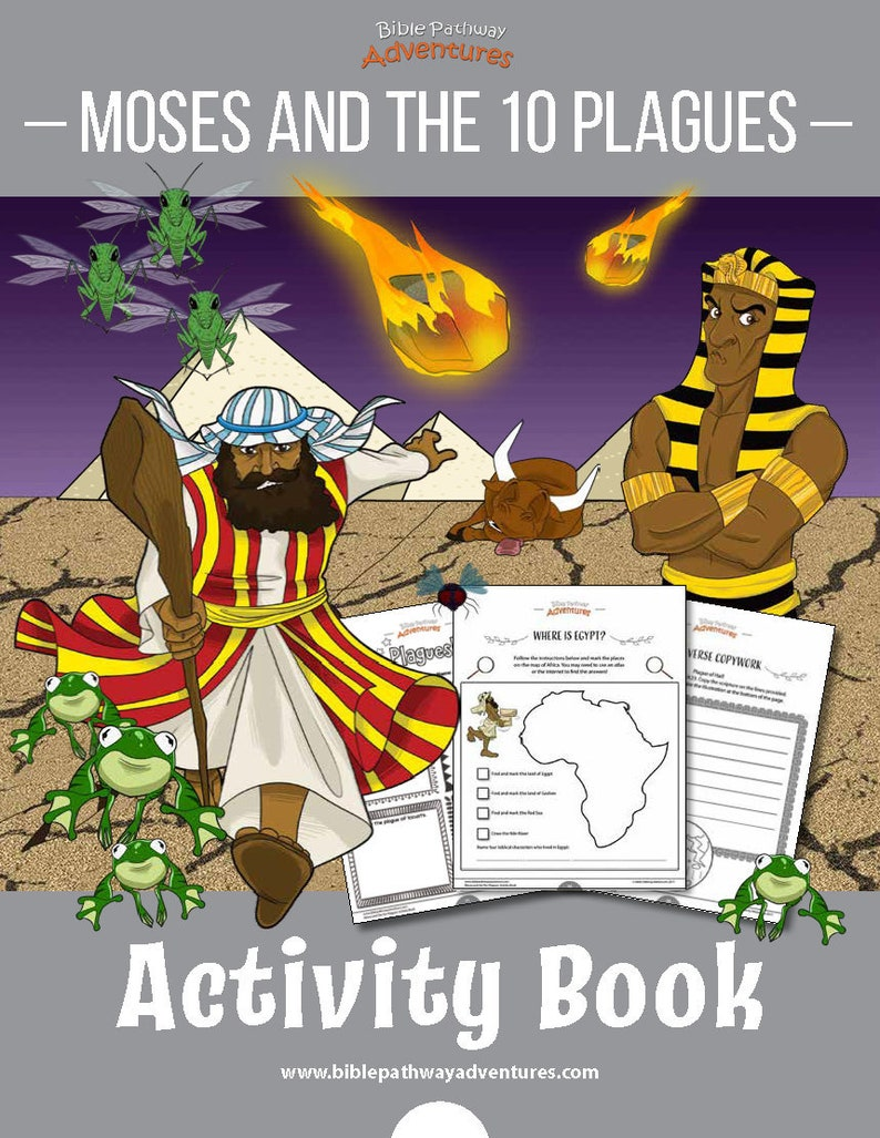 picture regarding 10 Plagues Printable identified as Moses and the 10 Plagues Printable Pover Match Reserve