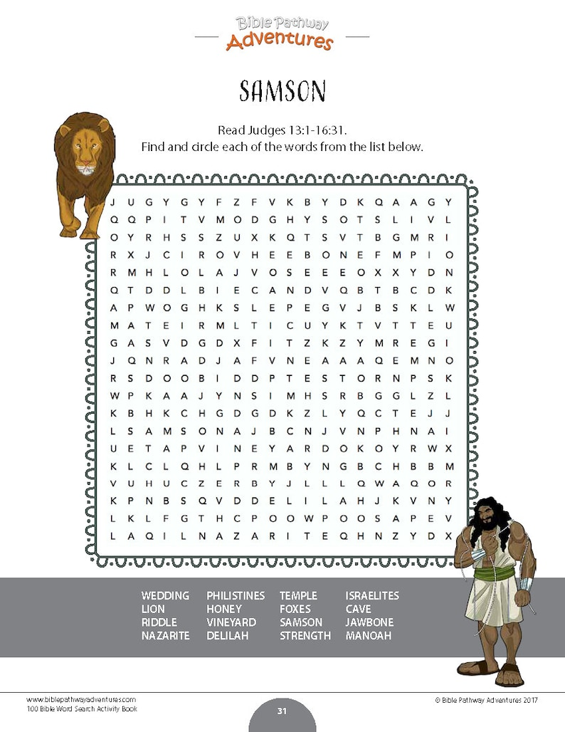 200 Bible Quizzes and Word Search Puzzles | Printable Activity Books