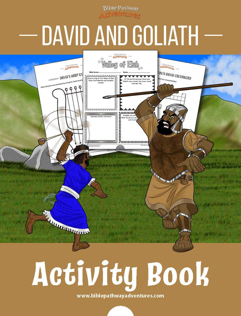 graphic relating to David and Goliath Printable Story identify David Goliath Printable Match Ebook and Lesson Systems