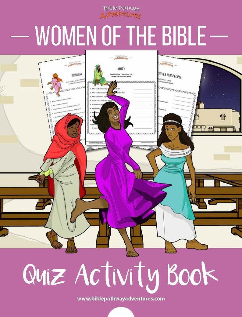 Women of the Bible Quiz Activity Book