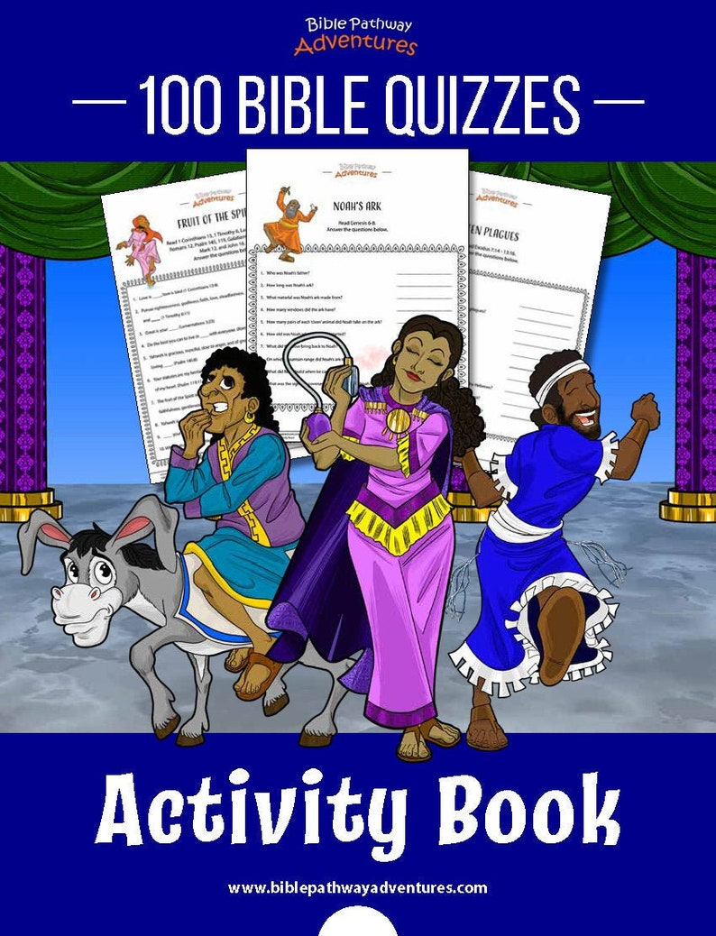 100 Bible Quizzes Printable Activity Book