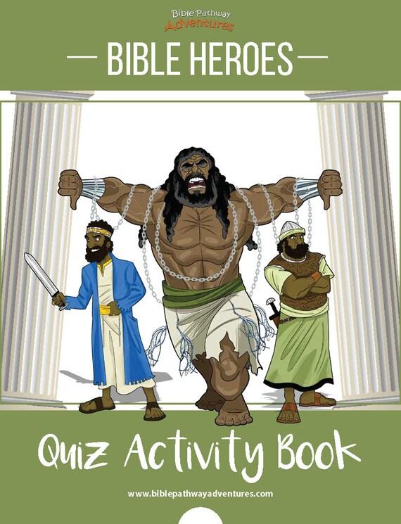 Bible Heroes Quiz Activity Book Etsy