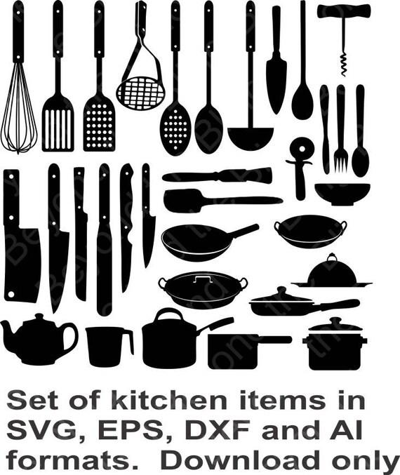 Kitchen Items Download File Kitchenware Download Kitchen | Etsy
