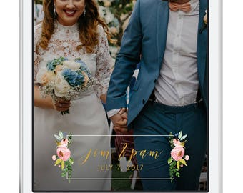 Gold Snapchat Filter - Wedding Snapchat Geofilter - Custom Geofilter - Snapchat Wedding - Floral Snapchat Filter - Floral Wedding