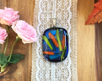Colorful Dichroic Glass Pendant