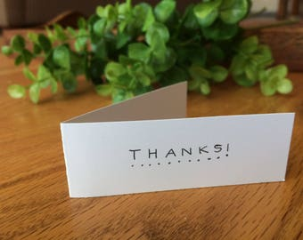 10 Pack Simple Thank You Notes