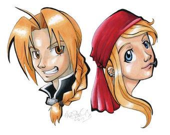 FMA Edward & Winry Head-Shot Marker Artwork