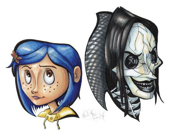 Coraline Other Mother Beldam Head Shot Marker Artwork Etsy