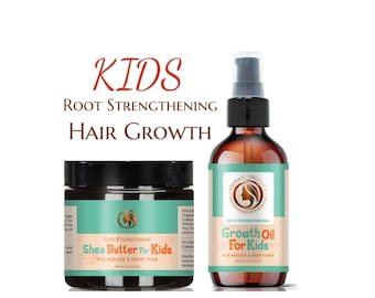 Kids Growth Oil and Butter |  Thinning, Hair Loss, Alopecia |  made for kids - all natural by Adorani Organics