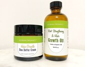organic hair growth oil shea butter set 4 OZ alopecia hair loss and hair thinning rosemary peppermint cedarwood by Adorani Organics