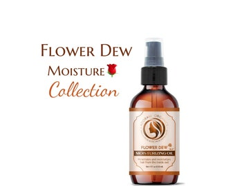Moisturizing Flower Dew Hair Oil  | made with organic and essential oils |  All Natural by Adorani Organics