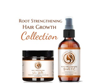 Growth Oil and Butter  |  Root Strengthening Formula  | Thinning, Postpartum Hair Loss, Alopecia |  All Natural by Adorani Organics