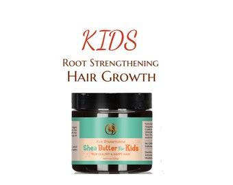 Kids Hair Strengthening Butter |  100%  Organic Shea Butter |  made for kids - all natural by Adorani Organics