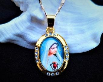 nuevo Llavero Madonna inmaculada miraculeuse 9 cm metal Antiquitäten & Kunst