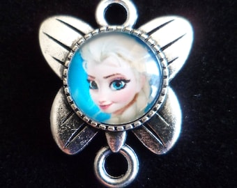 1 pendant Cabochon Queen of snow Butterfly 25 x 20 mm