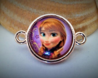 1 Connector 2 links + frozen 21 x 14 mm Cabochon