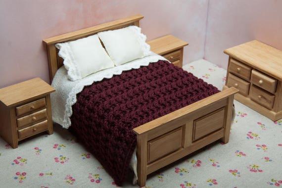 dollhouse double bed blanket handmade luxury blanket etsy. Black Bedroom Furniture Sets. Home Design Ideas