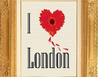 London Flower counted cross stitch