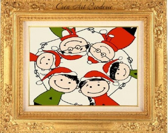 Pixies Christmas counted cross stitch