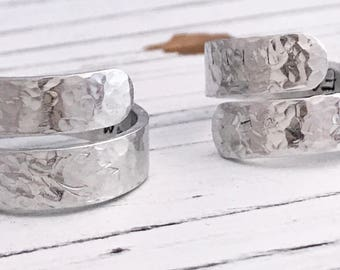 Follow Your Own Path Hammered Secret Message Inspirational Aluminum Wrap Ring, Inspirational Ring, Motivational Ring, Silver Wrap Ring