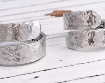 I Am Enough Hammered Secret Message Inspirational Aluminum Wrap Ring, I Am Enough Inspirational Ring, Motivational Ring, Silver Wrap Ring