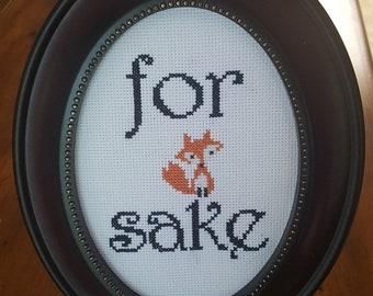 For Fox Sake Framed Cross Stitch