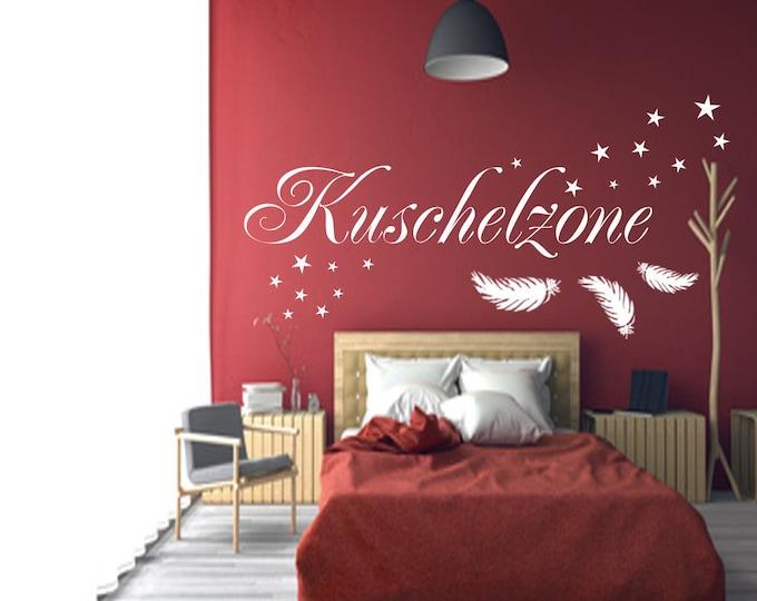 Wall Tattoo KUSCHELZONE Bedroom AA172 Wall Decal Sticker Saying Stars Feather Stickers