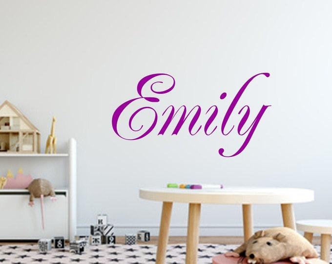 Wall decal with name nursery sticker girl boys