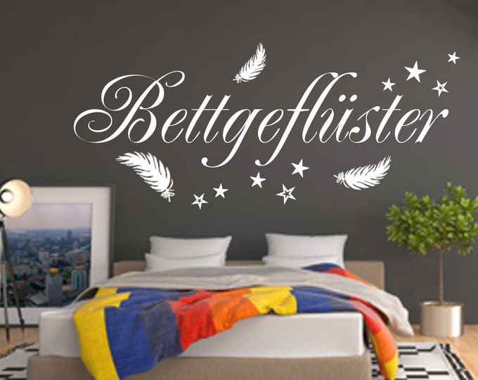 Wall decal bedroom wall saying BETTGEFLÜSTER