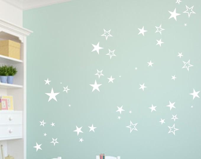 80 Star Wall Decal Wall Decal Sticker Nursery Girls Room Boys Baby Room