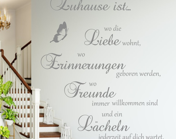 Family wall tattoo home is where love lives... Saying Living Room Hallway Meaning AA126