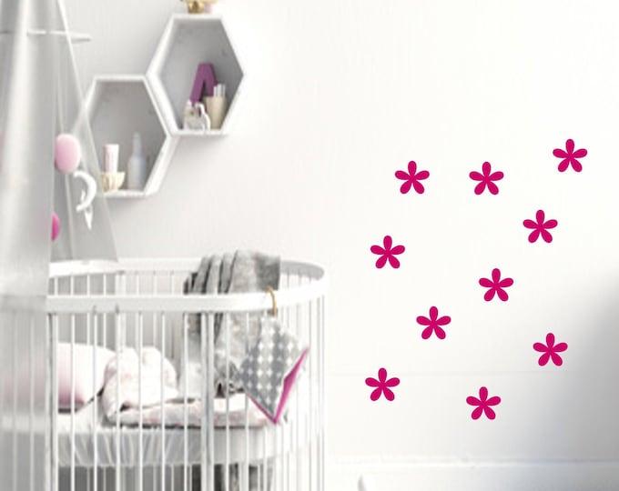 Wall decal AUFKLEBER 10 flowers nursery girl
