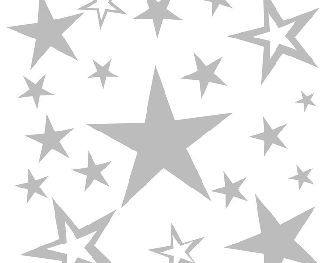 20 Star Sticker Wall Decal Children's Room AA120 A Girls Boys Baby Room MANY COLORS