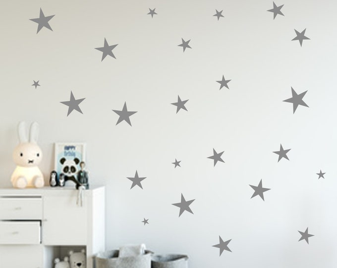 84 Stars Decal Wall Decal Wall Decal Nursery Many Colors Girls Boys Decoration Self Adhesive Wall Foil