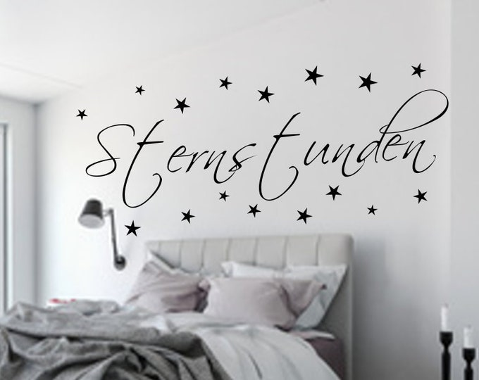 Wall tattoo wall tattoo bedroom star hours + 16 star stickers for the wall