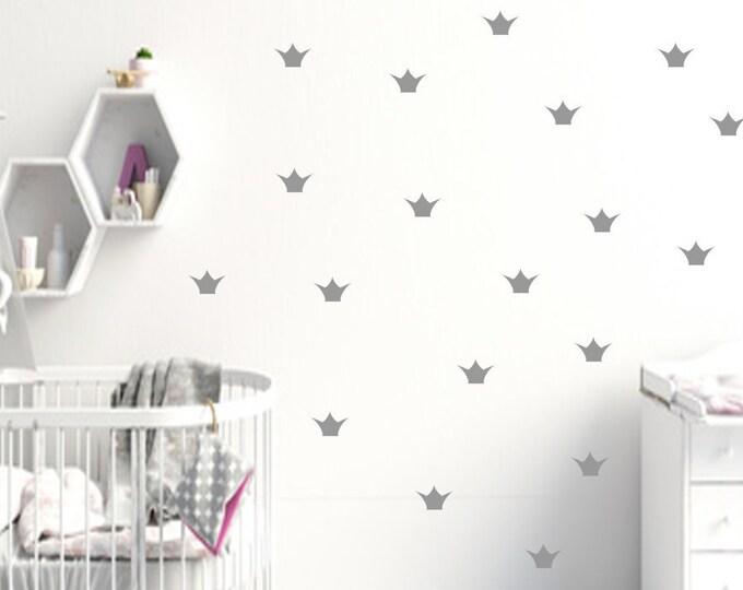 Wall sticker wall decal wall decal crown a 5cm 60 piece set confetti styl nursery girl boy