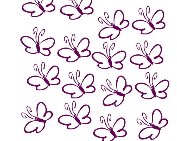 Butterflies 16 pieces window sticker, Kacheldeko
