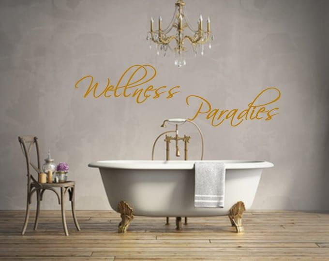 Wellness Paradise Wall Decal Bath Decal Decoration