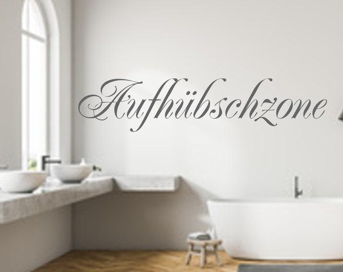 Wall decal wall sticker Walldecor AUFHÜBSCHZONE Bathroom Bathroom