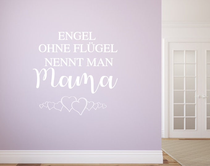 Wall tattoo angel without wings is called mom wall sticker gift for mom