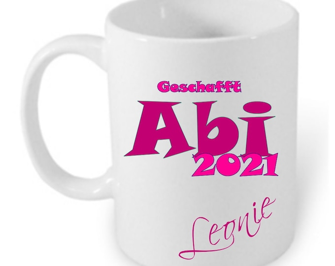 Gift for Abitur graduation 2021 cup Personalized Name Girl Boys Abitur Gift