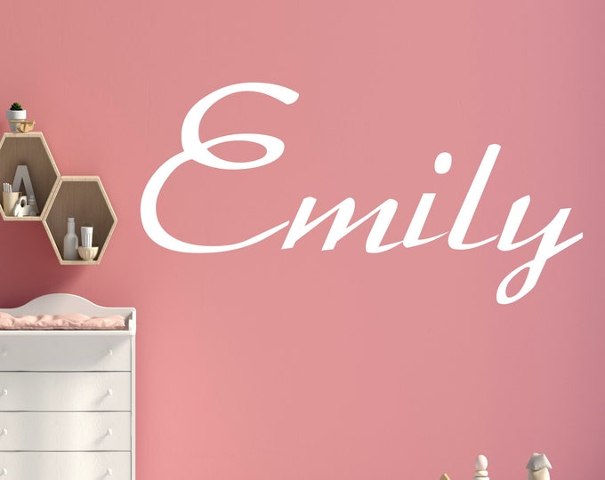 Nursery wall decal with name personalized wall sticker boys girl