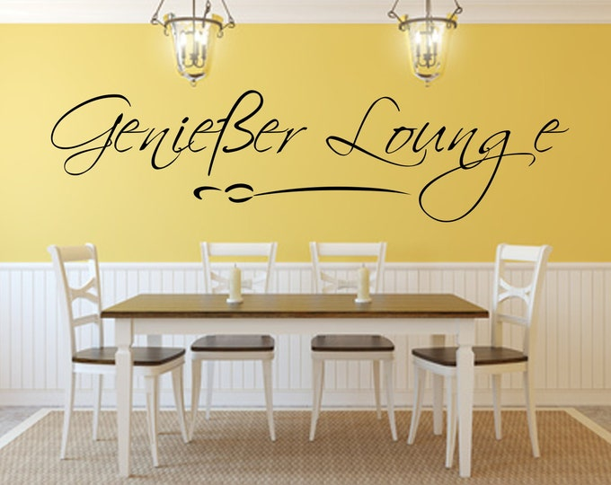 Gourmet Lounge Wall Sticker Wall Sticker Wall Decal Dining Room Kitchen Saying