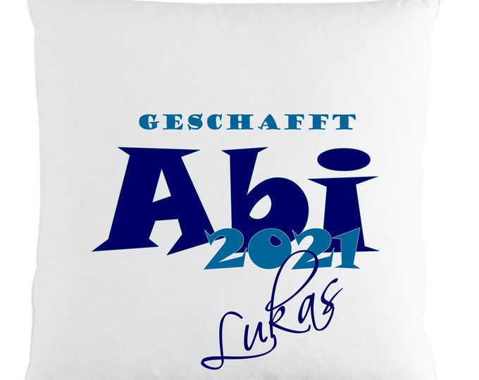 Gift for Abitur 2021 Pillow with name printed name cushion personalized Abigift