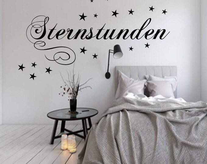 Wall Decal AA017 Bedrooms' STERNSTUNDEN Wall-Sticker Vinyl Wall Art