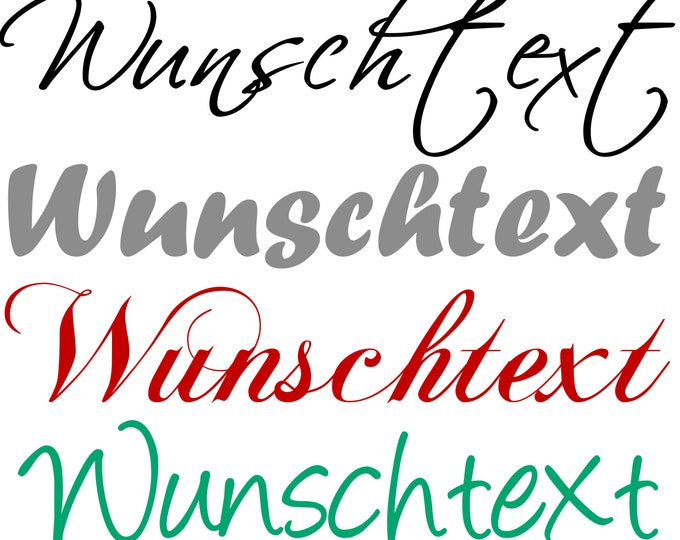 Wall decal WUNSCHTEXT Wall Decals personalised content is your choice