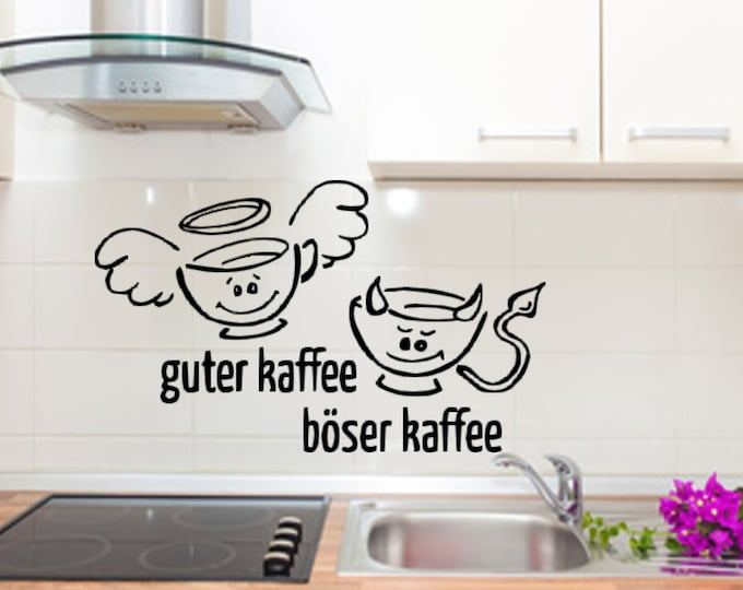 Wall decal kitchen good coffee nasty coffee