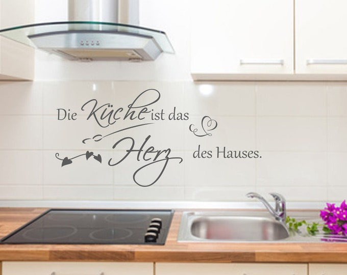 Wall decal wall sticker ++The kitchen is the heart of the house ++Wall sticker saying