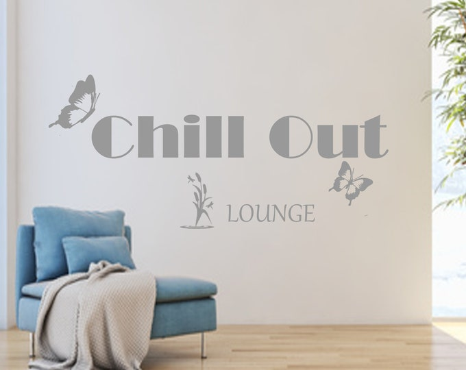 Wall decal Chillout Chill Out LOUNGE AC009 wall sticker living room hallway bedroom saying