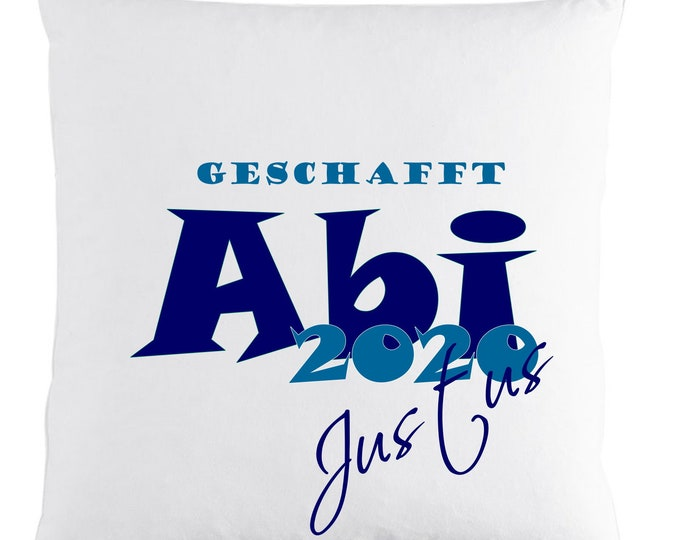 Gift for Abitur ++ Created Abi 2020 ++ Pillow with Name Custom Printed Abitur Gift Boys Girl